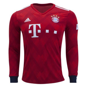 adidas Bayern Munich Long Sleeve Home Jersey 2018-2019 CF5430
