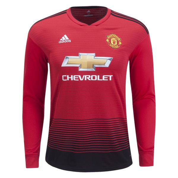 sale retailer 8c853 74195 adidas Manchester United Long Sleeve Home Jersey 2018-2019