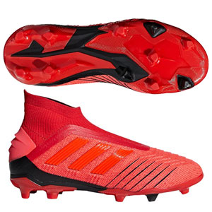 adidas Junior Predators 19+ FG - Active Red/Solar Red/Core Black CM8525