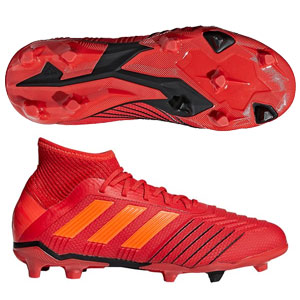adidas Junior Predators 19.1 FG - Active Red/Solar Red/Core Black CM8529