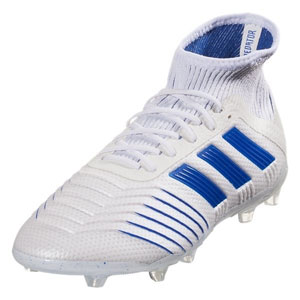 adidas Junior Predator 19.1 FG - Cloud White/Bold Blue CM8532