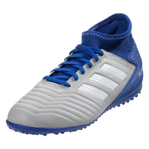 adidas Junior Predator Tango 19.3 TF - Grey Wolf/Bold Blue Turf CM8548