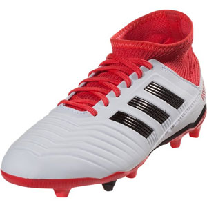 adidas Junior Predators 18.3 FG - Running White/Coral Red CP9011