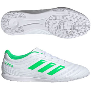 adidas Copa 19.4 IN - White/Solar Lime Indoor D98075