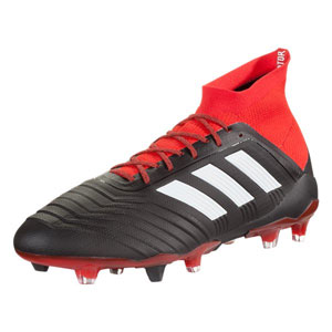 adidas Predators 18.1 FG - Core Black/Red DB2039