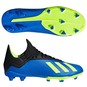 c860d866b adidas Junior X 18.3 FG - Football Blue Solar Yellow Core Black DB2416