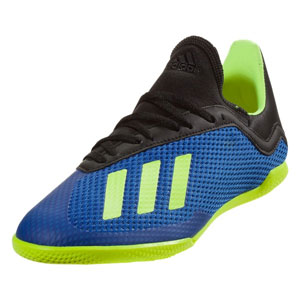 adidas Junior X 18.3 IN - Football Blue/Solar Yellow/Core Black Indoor DB2425