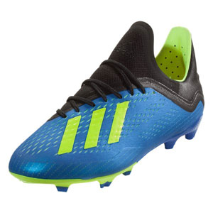 adidas Junior X 18.1 FG - Football Blue/Solar Yellow DB2428