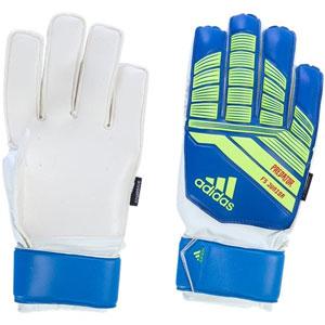adidas Junior Predator Fingersave Goalkeeping Gloves - Blue Yellow DN8568 f112d7a61f