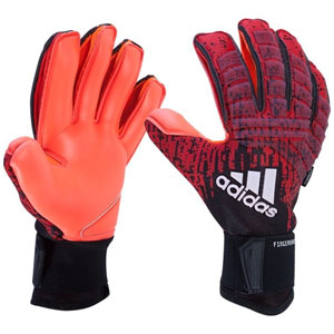 adidas Predator Pro Fingersave Goalkeeping Gloves - Active Red/Black DN8584
