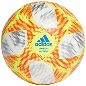 ca6f92a9ee2fd adidas Context 19 Top Capitano Soccer Ball - White Solar Yellow DN8636