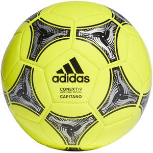 3a9bba721 adidas Context 19 Capitano Soccer Ball - Solar Yellow/Black/Silver Metallic  DN8639