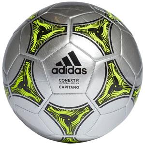 b5da81166 adidas Context 19 Capitano Soccer Ball - Silver Metallic/Solar Yellow DN8641
