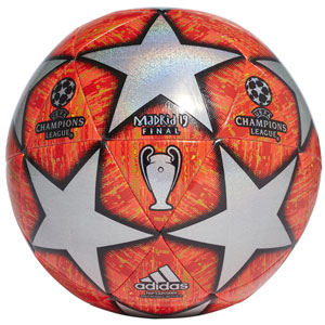 adidas UCL Finale Madrid Top Capitano Soccer Ball - Active Red/Scarlet DN8686