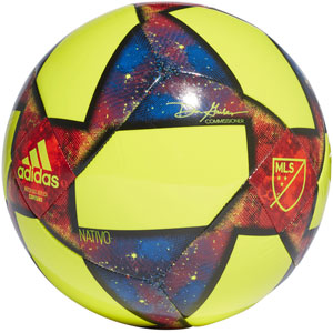 adidas MLS Capitano Soccer Ball - Solar Yellow/Black DN8695