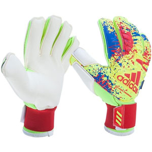 adidas Classic Fingersave Gloves - Solar Yellow/Active Red/Football Blue DT8743