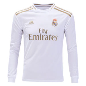 adidas Real Madrid Youth Home Long Sleeve Jersey 2019-2020 DX8842