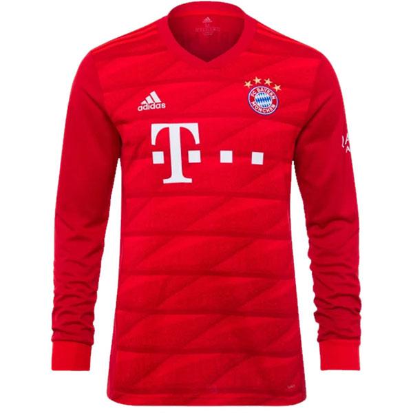 online store eb187 e85b6 adidas Bayern Munich Long Sleeve Home Jersey 2019-2020