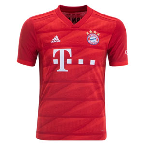 adidas Bayern Munich Youth Home Jersey 2019-2020 DX9253