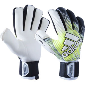 adidas Classic Pro Fingersave Gloves - Black/Solar Yellow/White DY2621