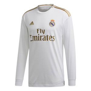 adidas Real Madrid Long Sleeve Home Jersey 2019-2020 DZ0439