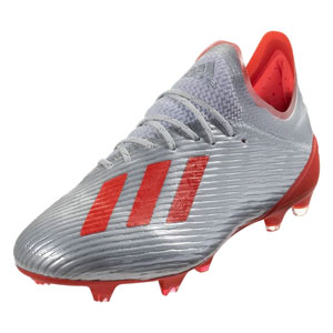 adidas X 19.1 FG - Silver Metallic/Hi Res Red F35315