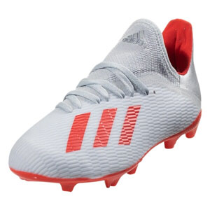 adidas Junior X 19.3 FG - Silver Metallic/Hi Res Red F35365