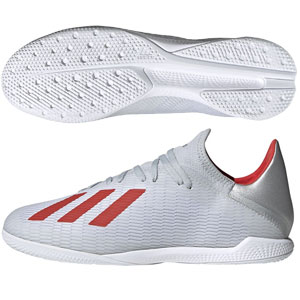 adidas X 19.3 IN - Silver Metallic/Hi-Res Red Indoor F35370