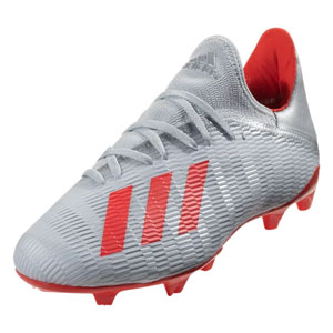 adidas X 19.3 FG - Silver Metallic /HI-Res Red F35382