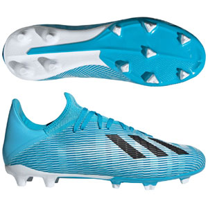 adidas X 19.3 FG - Bright Cyan/Core Black F35383