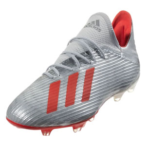 adidas X 19.2 FG - Silver Metallic /Hi-Res Red F35386