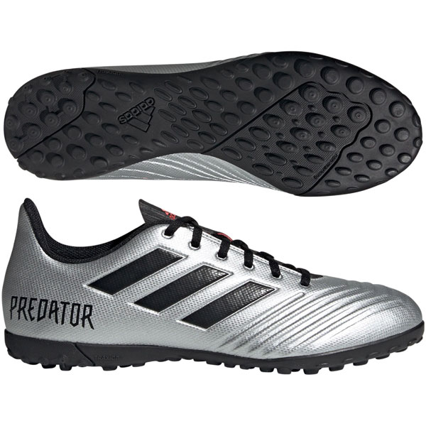 adidas Predator 19.4 TF - Silver Metallic/Core Black Turf F35634