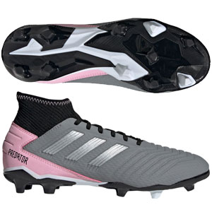 adidas Predators 19.3 Women's FG - Grey/Silver Metallic Pink F97528