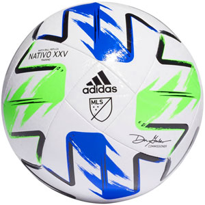 adidas MLS 2020 Navtivo XXV Top Training Soccer Ball - White/Green/Blue FH7315