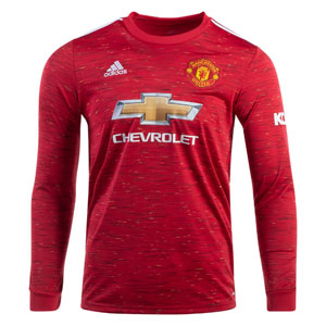 adidas Manchester United Home Long Sleeve Jersey 2020-2021 FM4290