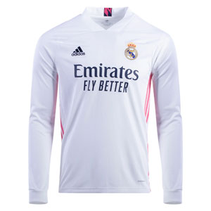 adidas Real Madrid Home Long Sleeve Jersey 2020-2021 FQ7473