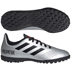 adidas Junior Predator 19.4 TF - Metallic Silver/Black Turf G25825
