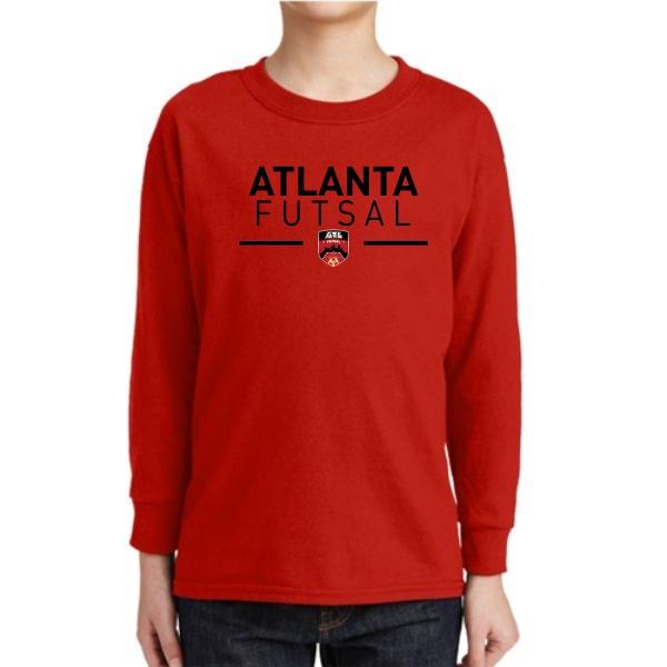 size 40 b829f 7d8c7 Atlanta Futsal Youth Long Sleeve T-Shirt - Red