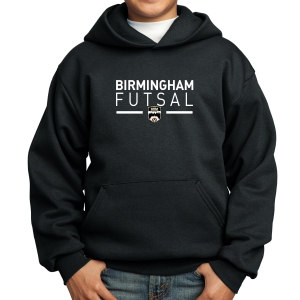 Birmingham Futsal Youth Hooded Sweatshirt - Black BHF-PC90YH