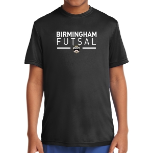 Birmingham Futsal Youth Performance Shirt - Black BHF-YST350