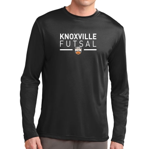 Knoxville Futsal Long Sleeve Performance Shirt - Black KNX-ST350LS