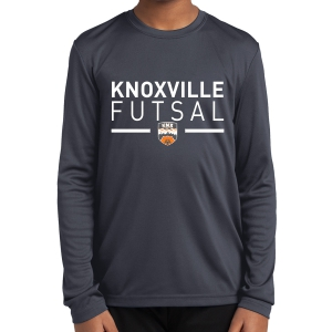 Knoxville Futsal Youth Long Sleeve Performance Shirt - Black KNX-YST350LS