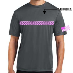 Breast Cancer Awareness Youth Shirt - Iron Grey YST350-BC-IG