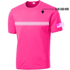 Breast Cancer Awareness Youth Shirt - Neon Pink YST350-BC-Pnk