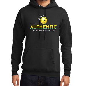 Authentic Soccer Hooded Sweatshirt - Black  AU-HoodS