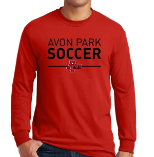 Avon Park Soccer Long Sleeve T-Shirt - Red AP-G5400-R