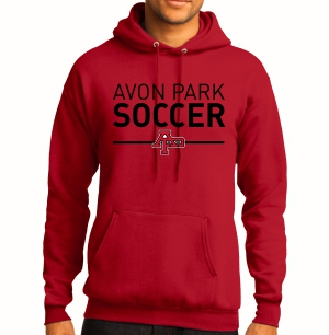 Avon Park Soccer Hooded Sweatshirt - Red AP-PC78H-R