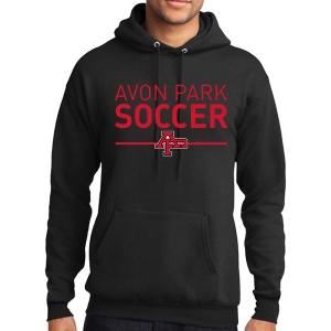 Avon Park Soccer Hooded Sweatshirt - Black AP-PC78H