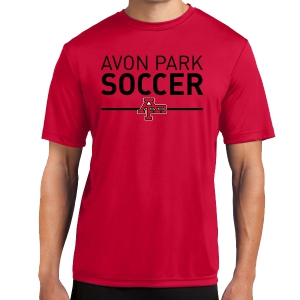 Avon Park Soccer Short Sleeve Performance Shirt - Red AP-ST350-R