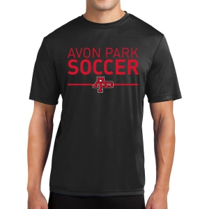 Avon Park Soccer Short Sleeve Performance Shirt - Black AP-ST350